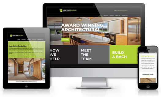 Crisp apple responsive website development - Lone Pine Building Website Screenshots