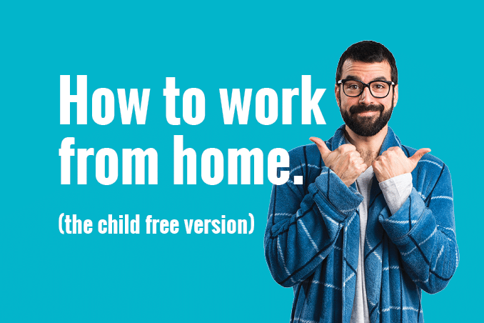 CrispApple Blog 'how to work from home-child free' 678x45